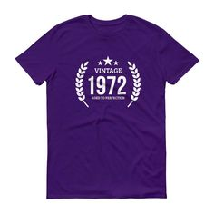 Men's Vintage 1972 Aged to perfection T-shirt - 1972 birthday gift ideas - 45 Birthday