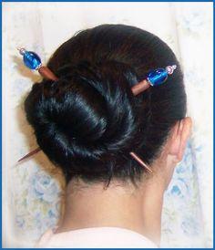 Beaded hair sticks