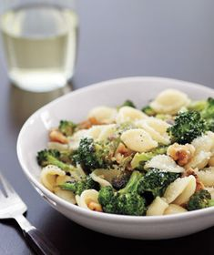 Orecchiette With Roasted Broccoli and Walnuts from realsimple.com #myplate #vegetables #protein