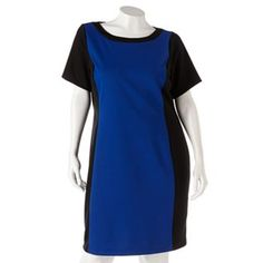 938aa580859 Plus Size Apt. 9® Colorblock Ponte Sheath Dress