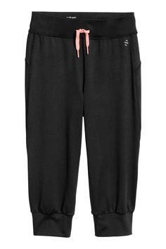 Spodnie treningowe 3/4 - Czarny - Dziecko | H&M PL