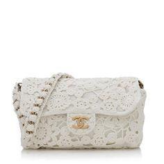 Chanel Crochet Flap Shoulder Bag | Chanel Handbags - Bag Borrow or Steal