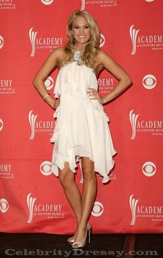 """""""Another Beautiful White Dress Worn By -- Carrie Underwood"""