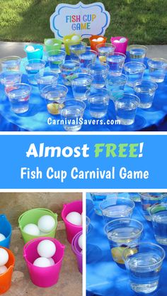 Check out this Almost Free Carnival Game idea! Great for carnival themed birthday parties, backyard parties, outdoor carnival games and more!