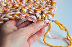 Aesthetic Nest: HOH in Crochet: Easy Baby Afghan (Tutorial)