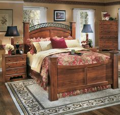 Timberline Sleigh Bedroom Set by Ashley - Home Gallery Stores