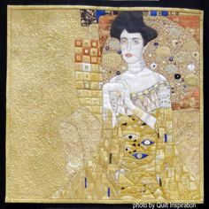 Gustav Klimt-inspired quilt by Jae McDonald.  Quilt Inspiration: World Painter's Challenge, 2016 AQS