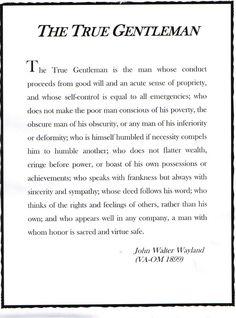 The True Gentleman by John Walter Wayland