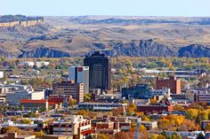 Downtown Billings, Montana. Airport is on a pleateau. Antelope roam everywhere. Very interesting and beautiful country.