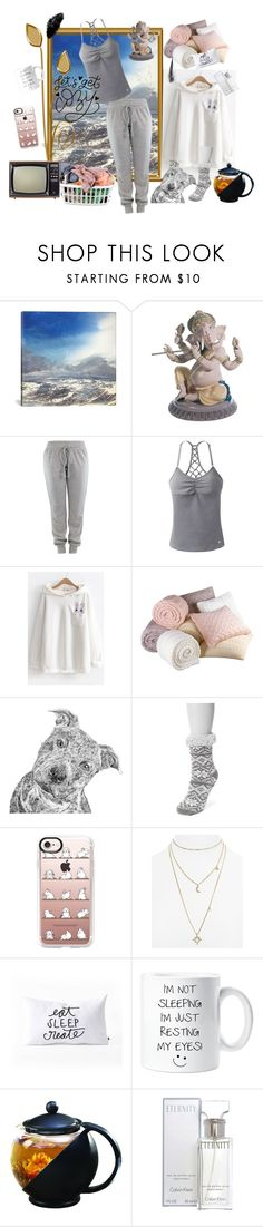 """""""Let's get cozy"""" by candycandy150 ❤ liked on Polyvore featuring iCanvas, Laundry, Lladró, prAna, WithChic, Muk Luks, Casetify, Rebecca Minkoff, DENY Designs and Calvin Klein"""