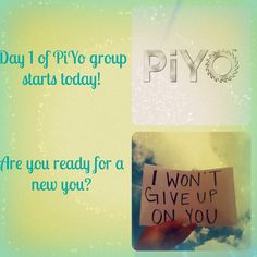 Day 1 of PiYo is in the books! I am so excited to see where this journey takes me and can't wait for the results that are ahead of me!