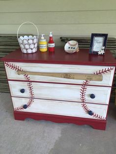 Baseball Painted Chest