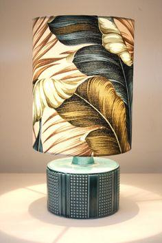 poole pottery teal retro lamp