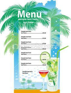 Juice Bar Menu Template Template designs of cocktail