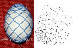 Семь схем обвязки яиц крючком Crochet Chart, Thread Crochet, Crochet Stitches, Easter Crochet Patterns, Lace Patterns, Easter Baskets, Easter Eggs, Tatting, Diy And Crafts