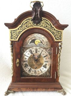 Just listed on eBay this Stunning 1972 Rare Warmink Black Band Double Kap Quarter Westminster Chime Bracket Clock