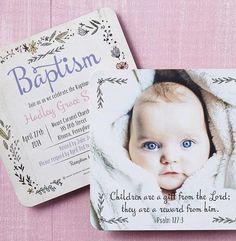 Create Baptism invit