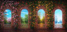 Four Seasons Terrace Scenic Backdrop | TheatreWorld