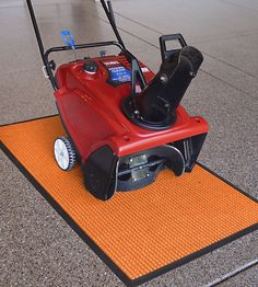 3 x 5 Garage Floor Mat - Squares - protect your floor from dirt, debris and water. They come in a variety of colors and are great for storing beneath snowblowers, lawnmowers, seeders and other small equipment.