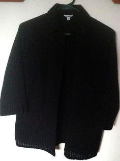 Tabi black blouse seersucker  Med Large Small #Tabi #Blouse