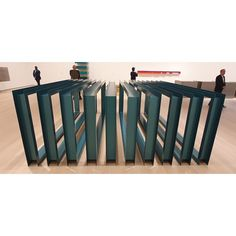 Untitled, 1966, turquoise paint on aluminum, 10 unità, 121.9 x 304.8 x 16.8 cm #DonaldJudd #MoMA #MyMoMANYC #NYC #ContemporaryArt pic by #AntonioAddamiano #DepArtGallery Moma Collection, Knife Block, Nyc, Museums, New York City