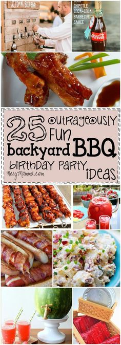 So, we're going to throw a fun Backyard BBQ Party with these 25 Outrageously Fun Backyard BBQ Birthday Party Ideas! Backyard Birthday Parties, Birthday Bbq, Summer Birthday, Birthday Cookout Ideas, Birthday Party Menu, Birthday Wishes, Birthday Gifts, Soirée Bbq, Bbq Grill