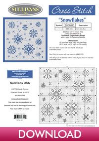 Snowflakes, designed by Sue Hillis Designs, from Sullivans' Winter Collection.