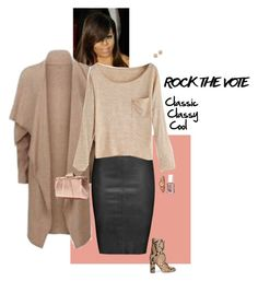 """""""Rock the Vote"""" by sophie-poualion on Polyvore featuring Versace, Elie Tahari, Jitrois, Iris & Ink, KOTUR, DKNY, Bloomingdale's and Essie"""