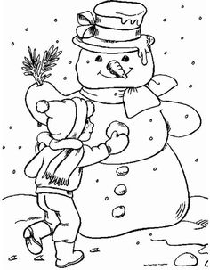 Распечатать Раскраска снеговик. Распечатать картинки снеговика.