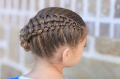 Zipper Braid   Updo Hairstyles and more Hairstyles from CuteGirlsHairstyles.com