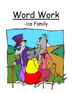 """Fern Smith's Center Game """"The -ice Family!"""" Long i ~ Word Work / Phonics / Spelling  Adorable """"Three Blind Mice"""" Theme!"""