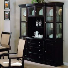 Society Hill China Cabinet With Buffet And Hutch By World Imports   Wolf  Furniture   China