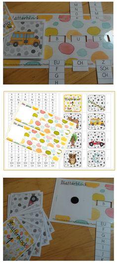 deutsch - Grundschulkram aus der Kruschkiste - DesignBlog                                                                                                                                                     Mehr Early Reading, Dyslexia, Teacher Hacks, First Grade, Classroom Decor, Montessori, Kindergarten, Homeschool, About Me Blog