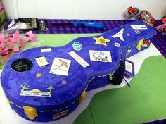 guitar case cake