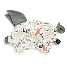VELVET COLLECTION - SLEEPY PIG PILLOW - LA MILLOU ZOO - KHAKI - Moda Kids