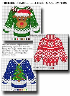 Diy Ugly Christmas Sweater, Christmas Jumpers, Christmas Sewing, Christmas Knitting, Christmas Cross, Christmas Clothing, Cross Stitch Cards, Beaded Cross Stitch, Cross Stitching