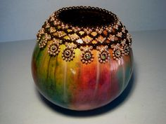Beaded Gourd by Miriam Joy