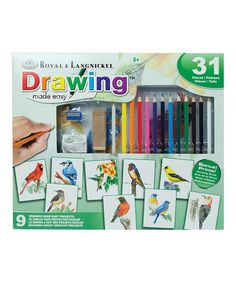 Take a look at this Drawing Made Easy 31-Piece Set by Royal Brush on #zulily today!