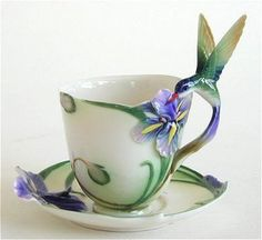 http://stores.ebay.co.uk/vintageplazauk repinned this - Hummingbird Cup and Saucer with Spoon