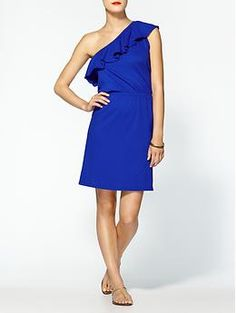 Michael Stars Asymmetrical Ruffle Dress | Piperlime... Love this color!