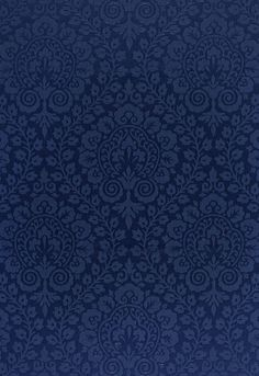 Amalfi Damask Navy 64694 by Schumacher Fabric Cote D'azure Solution - Martindale H: V: - Fabric Carolina - Navy Wallpaper, Pattern Wallpaper, Wallpaper Backgrounds, Flock Wallpaper, Wallpapers, Navy Fabric, Drapery Fabric, Fabric Design, Pattern Design