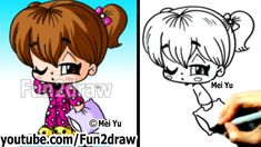 How to Draw Chibi People - Girl in Cool PJs