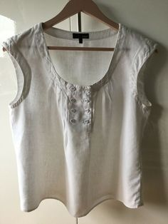 BNWT NEXT Ladies White Sleeveless Bow Front Top Blouse Shirt