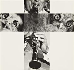 John Baldessari - The Intersection Series - Clarinetist & Owls - 2001 John Baldessari, Art Pictures, Photos, Conceptual Photography, Spartacus, Photomontage, Deep Thoughts, Collage Art, Owls