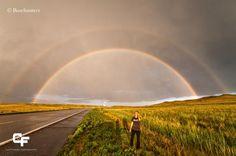 Maravilloso doble arcoiris cerca de Angora.