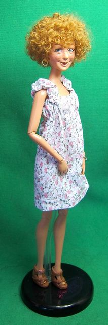 Here she is in her adorable summer dress from Habilis dolls!! by Dazi May, via Flickr