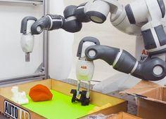 このAIロボットアームは、初めて見た物でも上手につかむ