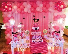 Decoração temática Minnie Rosa provençal, consulte valores!!!
