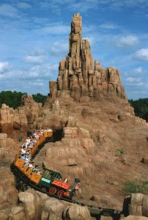 A runaway train takes you on a journey through these rocky rust colored mountains! I recommend this attraction to people who love jerky roller coasters. Walt Disney Land, Disney World Rides, Disney Parks, Disney Dream, Disney Love, Disney Stuff, Best Vacations, Disney Vacations, Parc Disneyland