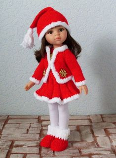 Объявление создано для отзыва. Оригинал объявления смотрите в шопике. 1. Наряд Снегурочки. В него входит платье на пуговицах (бусинах) сзади, / 1 000р Knitting Dolls Clothes, Crochet Doll Clothes, Knitted Dolls, Crochet Dolls, Crochet Baby, Beautiful Crochet, Beautiful Dolls, Baby Barbie, My American Girl